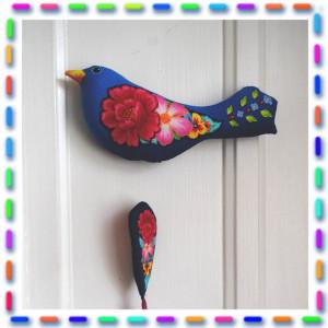 Kit couture L'oiseau  fleuri