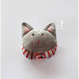 Kit velvet Key ring little cat