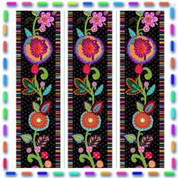 Mini Bordure coton fleury noire