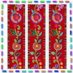 Mini Bordure coton fleury vermillon