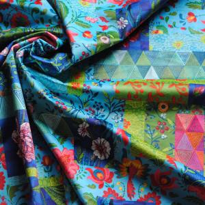 Velvet blue EMBROIDERED PATCH
