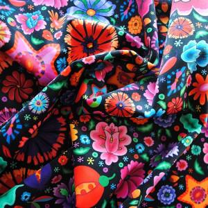 Velours souple Fleurs du Mexique