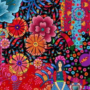 "Velvet panel ""Mexico"""