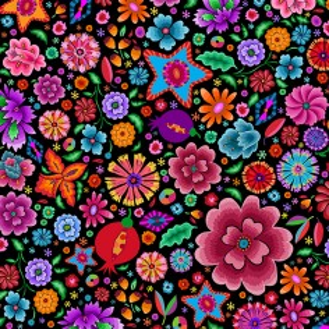 Velours Fleurs du Mexique