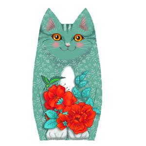 Sewing kit : velvet kitten Plume