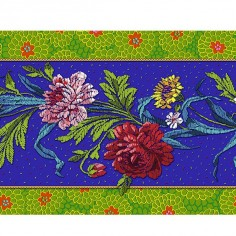 Velvet border Kitchen flower ultramarine