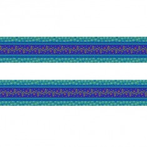 Small velvet border Galon blue