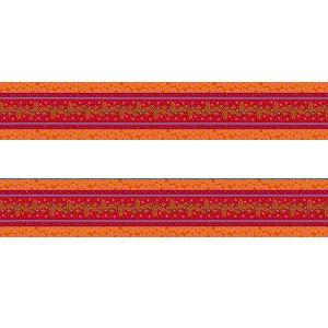 Petite bordure velours Galon brodé rouge