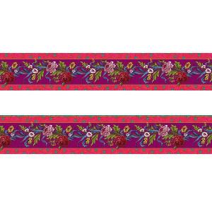 Small velvet border Kitchen flower pink