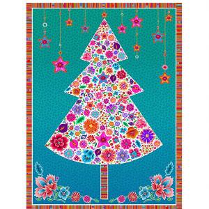 Velvet pannel : white Christmas tree