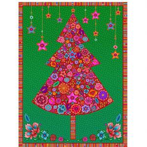 Velvet pannel : red Christmas tree