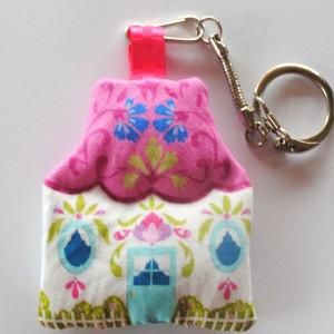 Kit velvet Key ring House