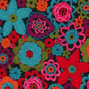 Velours Fleurs de crochet