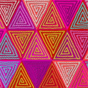 Velvet labyrinth pink