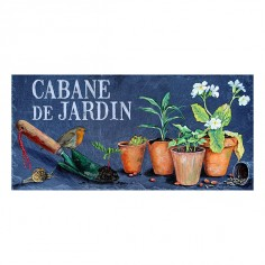 "Plaque ""Cabane de Jardin"""