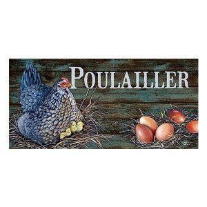 Plaque Poulailler