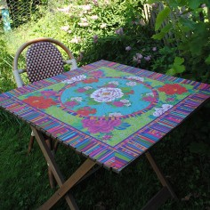 Table cloth peonies 80cm x 80cm