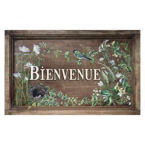 "Garden sign ""Bienvenue"""