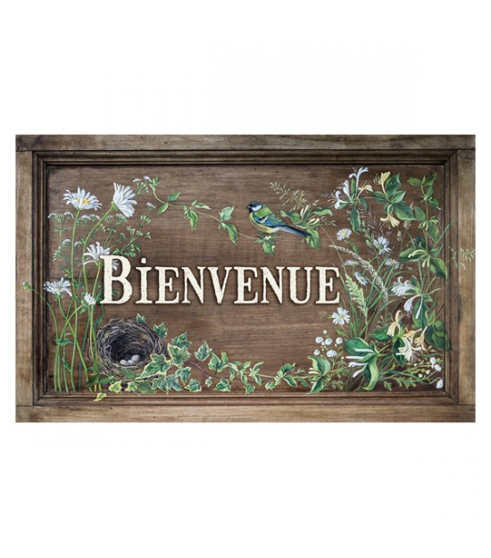 "Garden sign ""Bienvenue"""