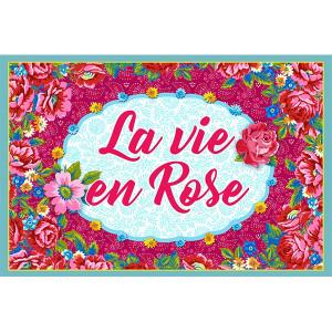 """Plaque """"La vie en rose"""""""
