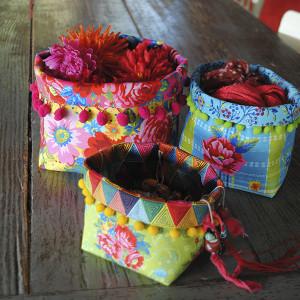 Set of 3 Fabric Baskets