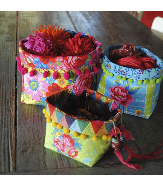 Set of 3 Fabric Baskets