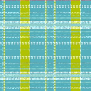 Cotton fabric Scottish Blue