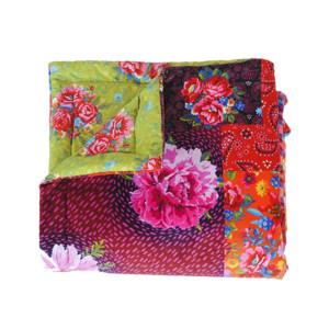 Plaid Brodé rouge 100 x 140 cm doublure soft