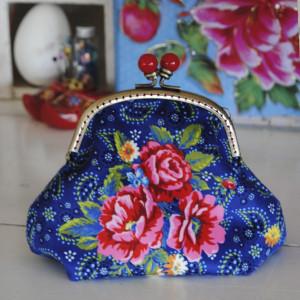 Sewing kit Velvet purse Palmettes