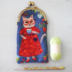 Sewing kit : velvet glasses case Mathilda
