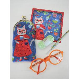 Sewing kit : velvet glasses case Mathilda