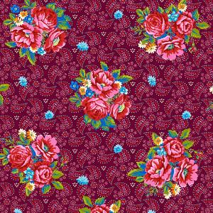 Supple velvet Bouquets plum