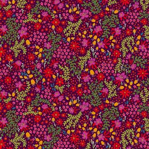 Velvet Canopée plum