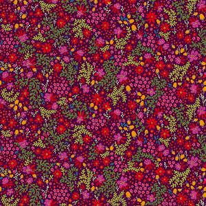 Supple velvet Canopée plum