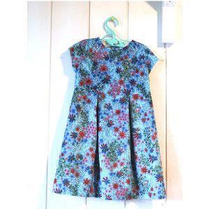 Patrons couture enfant : MYOSOTIS en Velours souple Canopée bleu