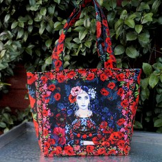 Kit bag velvet Poppies