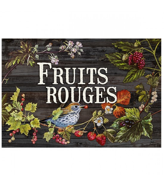 "Plaque ""Fruits rouges"""