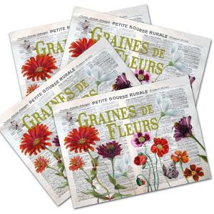 Set de table Graines de fleurs