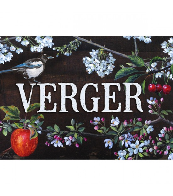 "Garden sign ""Verger"""
