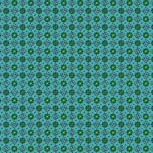 Voile de coton Diamants turquoise