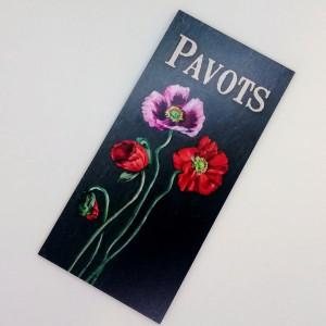 """Plaque """"Pavots"""""""