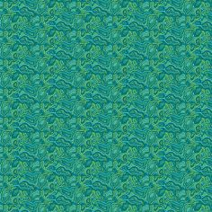 Cotton Fabric Malabar Turquoise