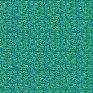 Coupon coton Malabar Turquoise