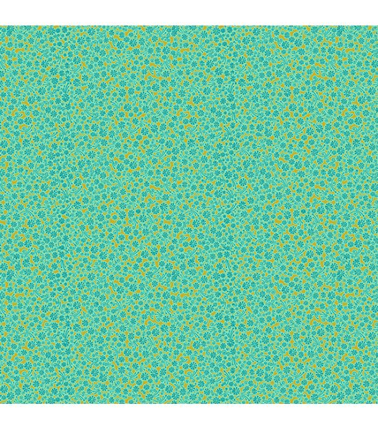 Cotton Fabric Goa Turquoise