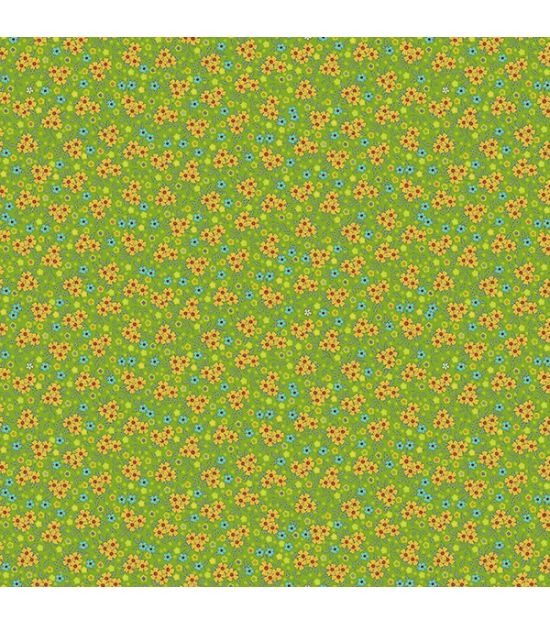 Cotton Fabric Delhi Green
