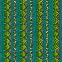Cotton Fabric Seville Green