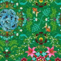 Cotton Fabric Syracuse green