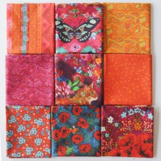 Assortiment 9 coupons Chat rose