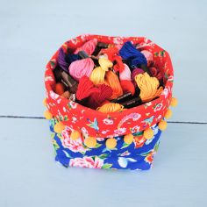 Sewing kit Mini Fabric Basket - Shanghai
