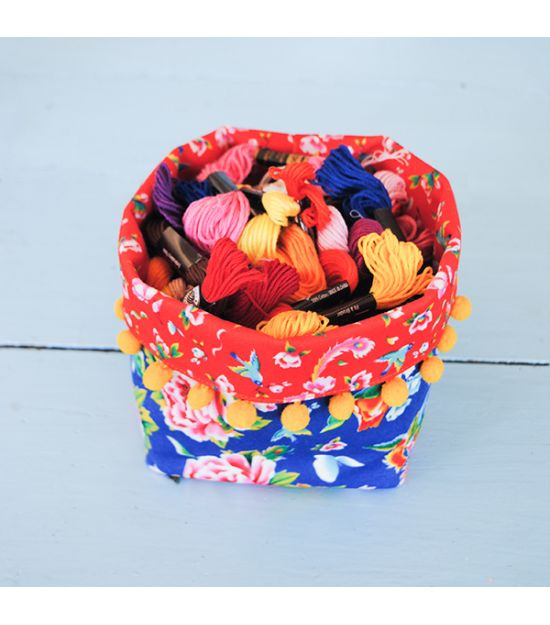Sewing kit Mini Fabric Basket - Shanghai